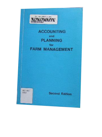 Image for Accounting and Planning for Farm Manangment.