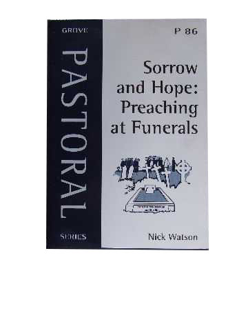 Image for Sorrow and Hope: Preaching at Funerals.