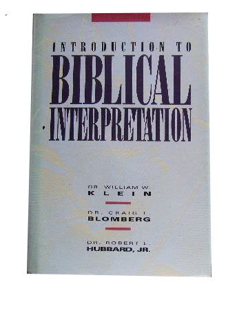 Image for Introduction to Biblical Interpretation.