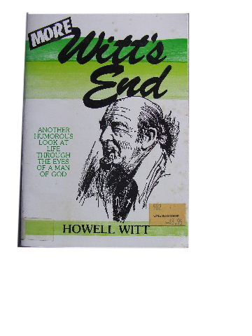 Image for More Witt's End   Homorous Look at Life Through the Eyes of a Man of God