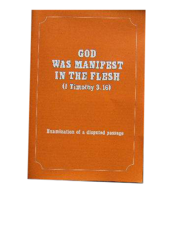 Image for God Was Manifest in the Flesh  Article 103