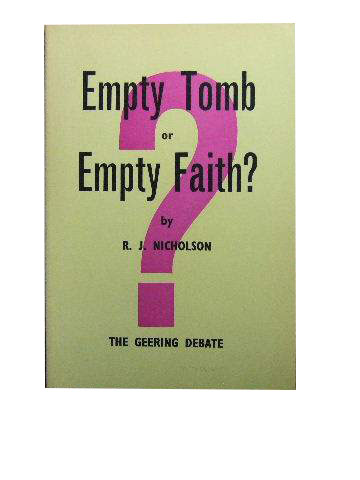 Image for Empty Tomb or Empty Faith  The Geering Debate