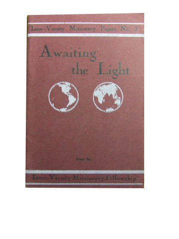 Image for Awaiting the Light.