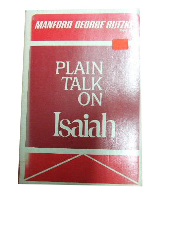 Image for Plain Talk on Isaiah.