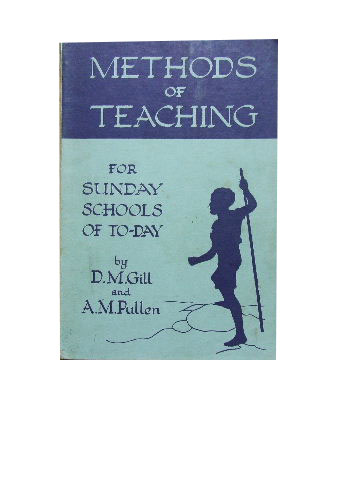 Image for Methods of Teaching  For Sunday Schools of To-day