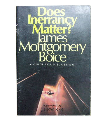 Image for Does Inerrancy Matter  A guide for discussion